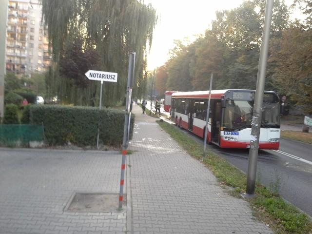 Pożar autobusu w Mysłowicach