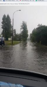 Gdzie jest burza 31.08.2020. Białystok zalany po ulewie, zablokowane drogi, brak prądu. Prognoza pogody (zdjęcia)