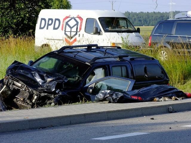 Wypadek na drodze krajowej nr 6 koło Starej Dąbrowy.
