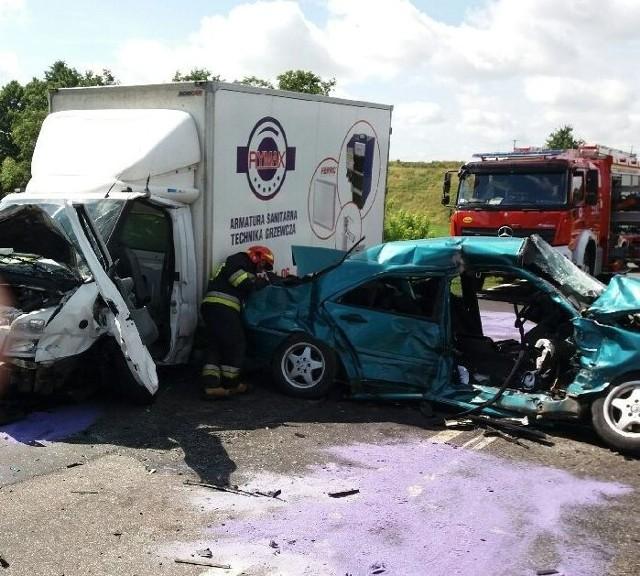 Do wypadku doszło na drodze krajowej nr 15.