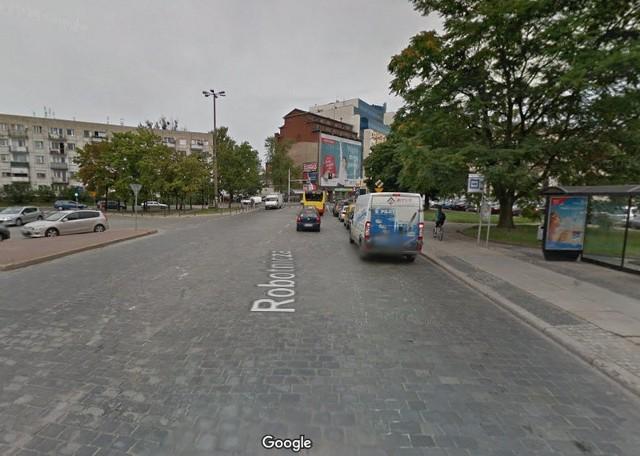 Ulica Robotnicza jest szeroką, bo około 12-metrową jezdnią. Teraz ma na niej powstać buspas