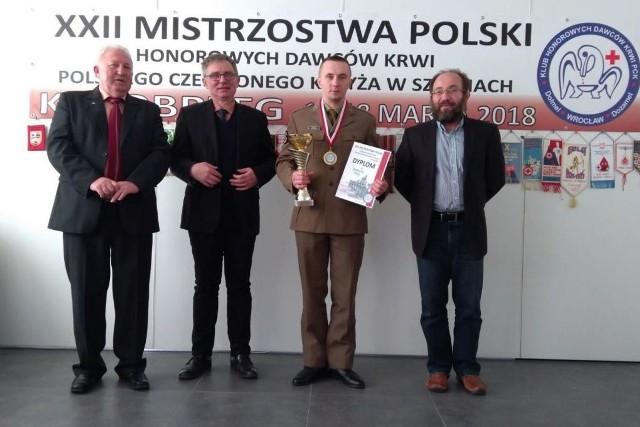 Mistrzostwa Polski Honorowych Dawców Krwi Polskiego Czerwonego Krzyża w szachach z udziałem sulechowskich żołnierzy