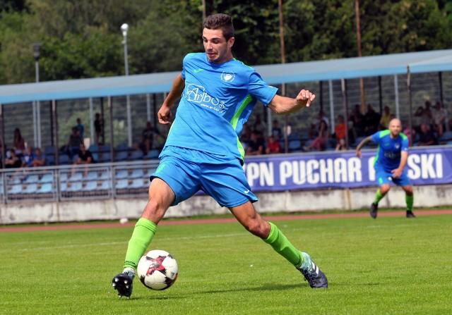 Kacper Rapita z zespołu juniorów starszych Bałtyku Koszalin ma już na koncie także 15 meczów w III lidze