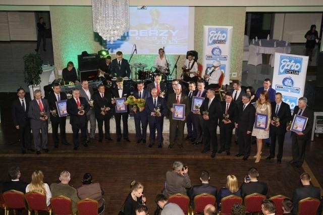 Laureaci świętokrzyskiej nagrody gospodarczej Liderzy Regionu 2013.