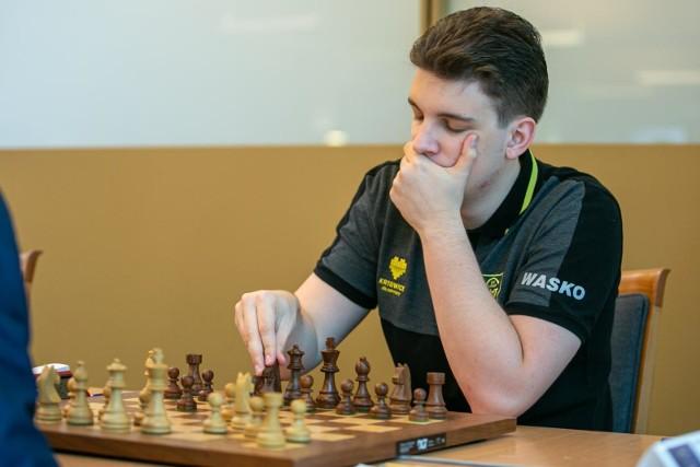 Jan Krzysztof-Duda podczas turnieju w Krakowie