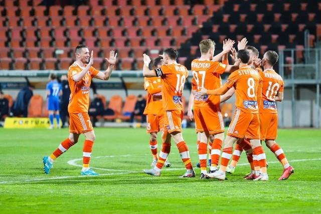 Zawodnicy Bruk-Betu Termaliki Nieciecza w meczu z Koroną Kielce mieli sporo powodów do radości