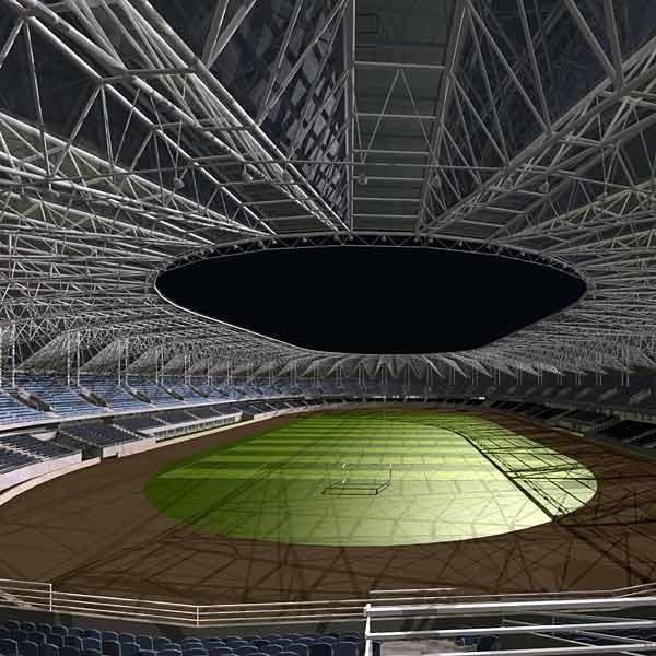 Stadion wygląda imponująco, ale miasto nie jest w stanie sfinansować jego budowy.