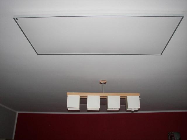 Infrapanel w salonieTaki infrapanel pasują właściwie do wnętrza urządzonego w każdym stylu.