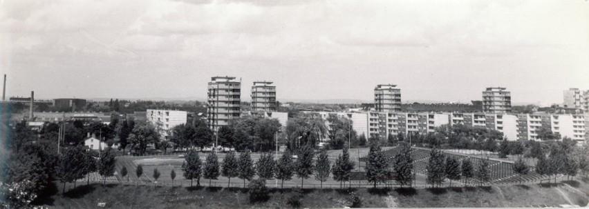 Widok na stadion Śląska Wrocław i wieżowce przy ul. Grabiszyńskiej