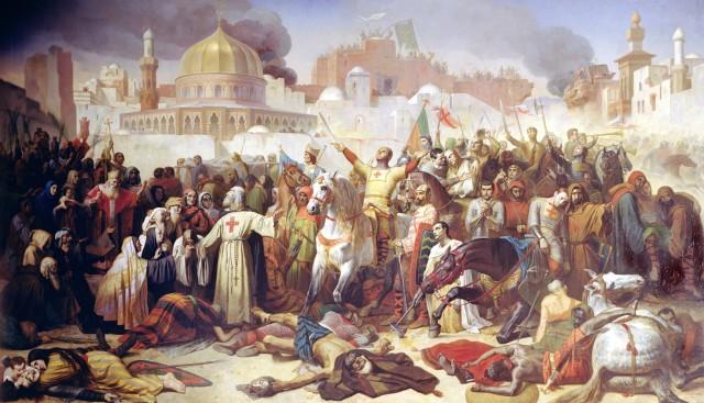 Émile Signol, Zdobycie Jerozolimy przez krzyżowców 15 lipca 1099 / Giraudon / The Bridgeman Art Library