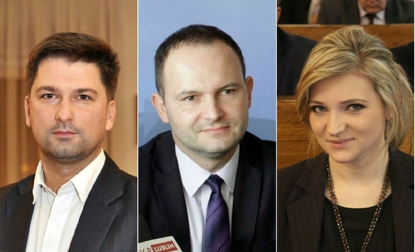 Sylwester Tułajew (PiS), Krzysztof Hetman (PSL), Beata Stepaniuk-Kuśmierzak (PO)