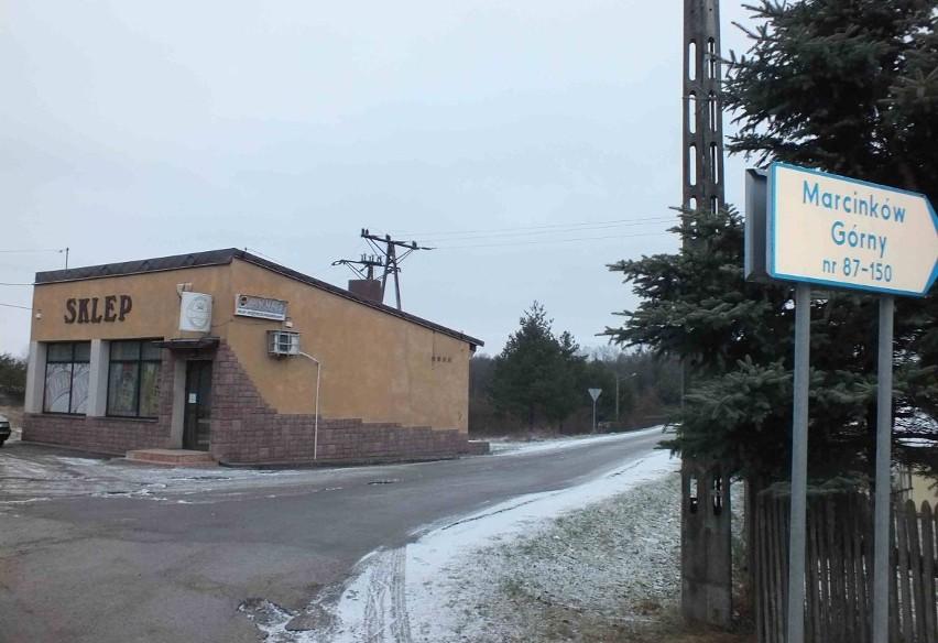 Poślizg Z Dokumentacją Oświetlenia W Marcinkowie Mieszkańcy