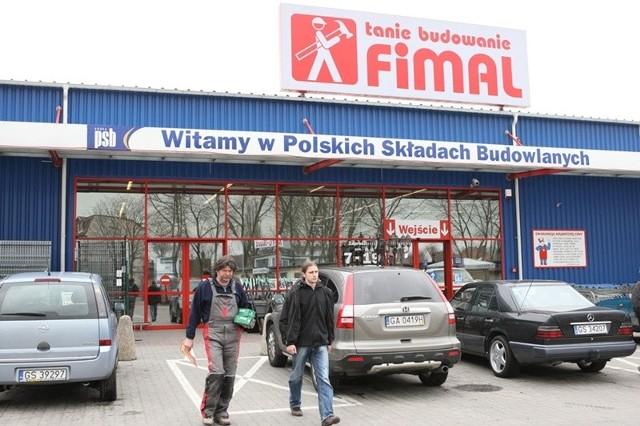Market Fimal przy ul. Bałtyckiej w Słupsku