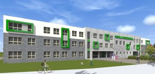 Wizualizacja szkoły na Warszewie.