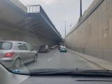 Wypadek w tunelu trasy W-Z. Mandat dla młodej kierującej ZDJĘCIA
