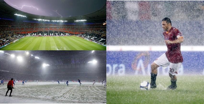Śnieg, ulewy i burze, czyli mecze w trudnych warunkach [GALERIA]