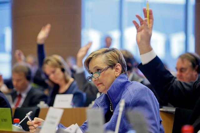 Róża Thun na posiedzeniu Komisji Europejskiej.