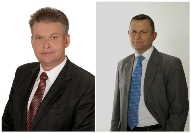 Jedni z kandydatów (od lewej): starosta ostrowski Zbigniew Kamiński i Dyrektor zarządzający Interchemall Zespół Młynów Jelonki, radny Sejmiku Województwa Mazowieckiego Krzysztof Winiarski