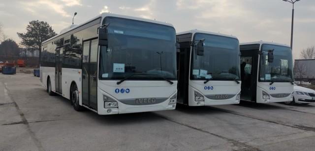 Nowe autobusy komunikacji miejskiej w Bytowie.