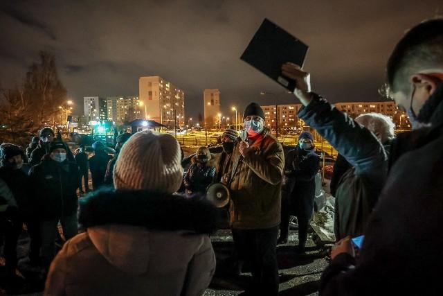 """Na zdj. spotkanie mieszkańców spółdzielni """"Morena"""" w styczniu 2021 r."""