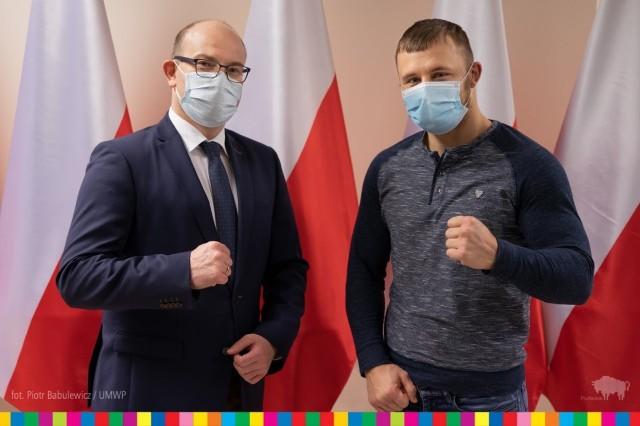 Marszałek Artur Kosicki i Robert Szeremeta