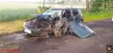 Poważny wypadek pod Kruszwicą. Dwie osoby w szpitalu [zdjęcia]