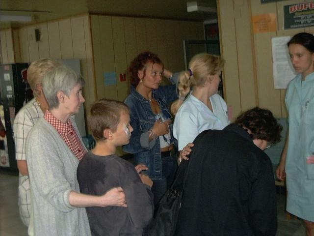 Poszkodowani w Wojewódzkim Centrum Medycznym w Opolu.
