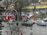 Wypadek na Wasilkowskiej. Zderzenie trzech pojazdów. Jeden pas ruchu zablokowany (zdjęcia)