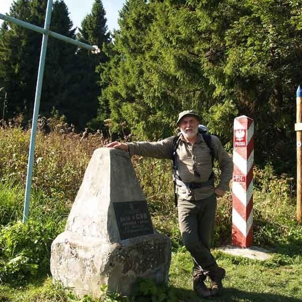 Przy źródłach Sanu na granicy polsko-ukraińskiej w Siankach