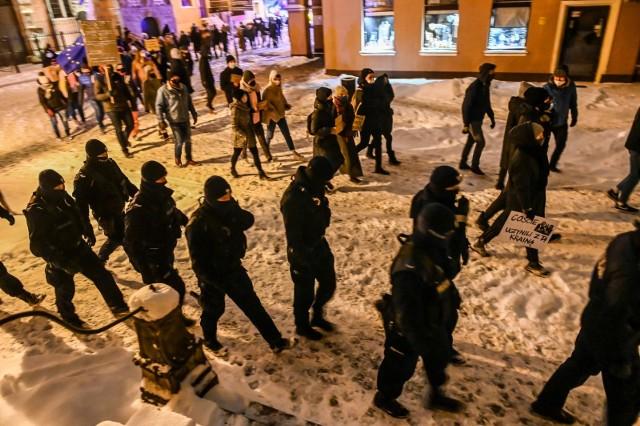 Pikieta przeciwko wyrokowi Trybunału Konstytucyjnego w Gdańsku w czwartek 11.02.2021