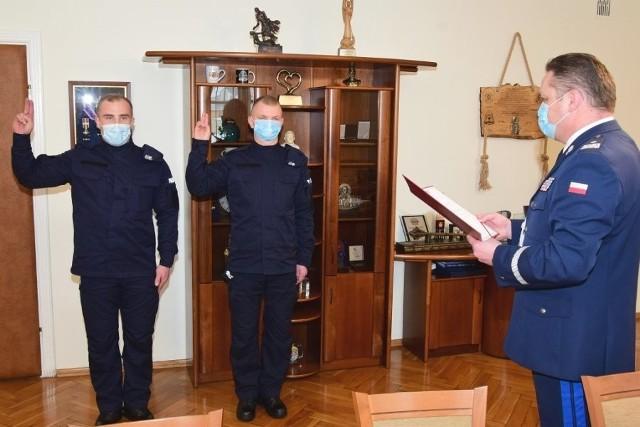 Ślubowanie nowych policjantów w Rzeszowie.