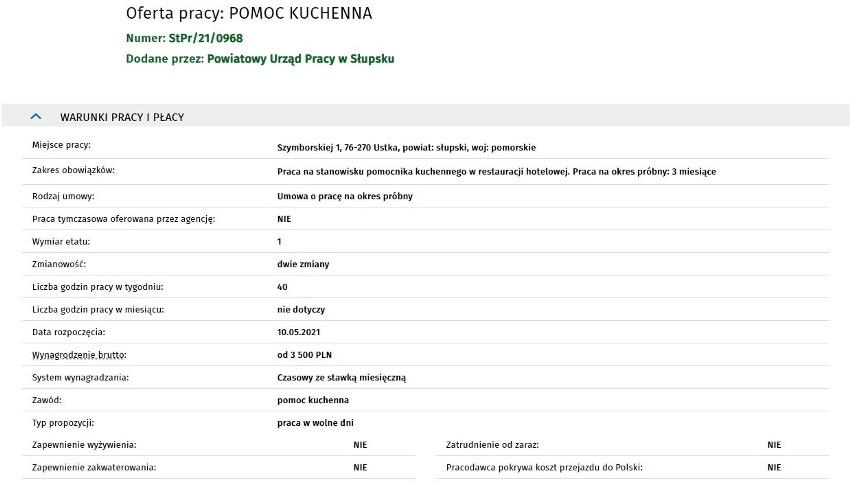 Firmy w Słupsku i regionie chcą zatrudnić pracowników. Sprawdź, najnowsze oferty pracy 05.05.2021