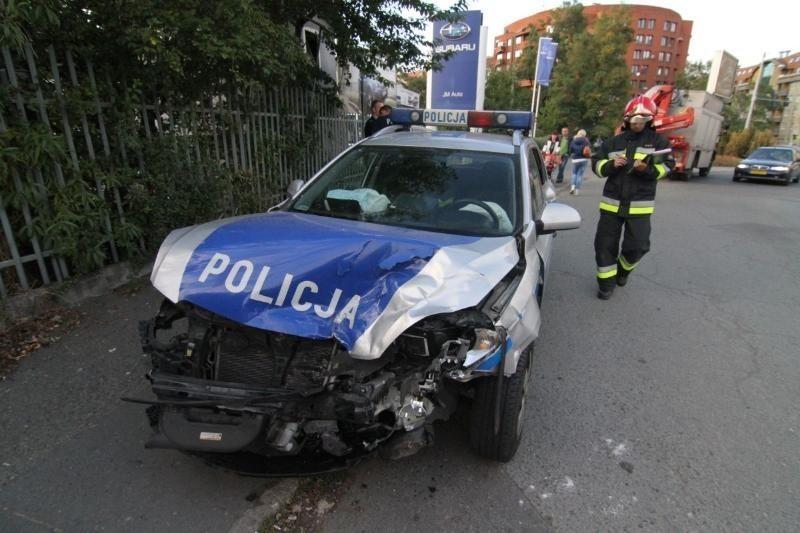 Wypadek radiowozu, Wrocław 21.09.2015