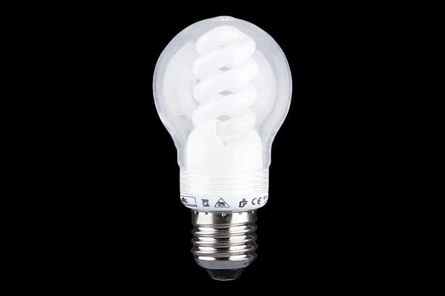 Osłona na świetlówkę energooszczędnąOsłona na świetlówkę energooszczędną o kształcie kulistym przypominająca tradycyjną żarówkę