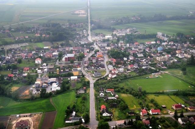 Rynek w Wodzisławiu - widok z lotu ptaka