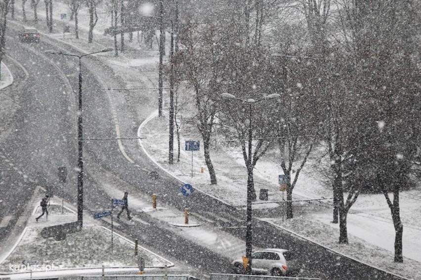 Zima w Lublinie. Ul. Unicka
