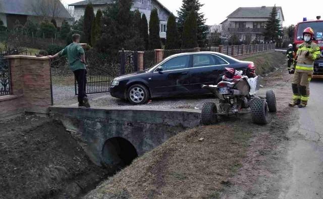 Do wypadku doszło na lokalnej drodze w miejscowości Nieczajna Górna na Powiślu
