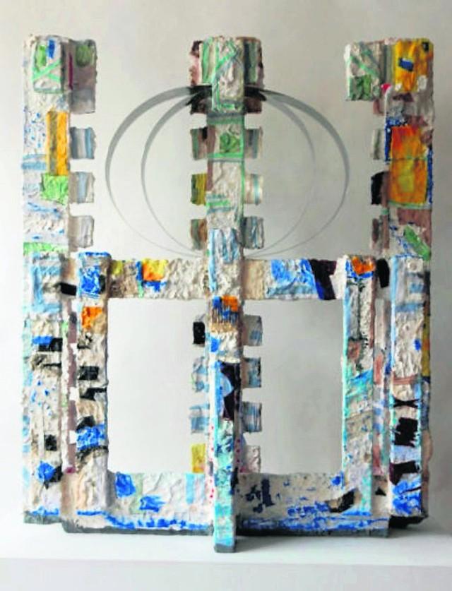 Jedna z prac, którą można oglądać na wystawie promieniotwórczość w toruńskim Centrum Sztuki Współczesnej