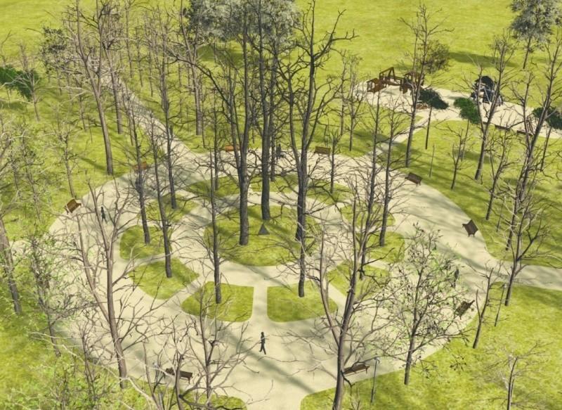 Pracami budowlanymi  został objęty obszar o powierzchni 2,28 ha, wzdłuż Akcentu ZOO do Trasy Kopernikańskiej oraz między ogródkami działkowymi, a aleją główną parku