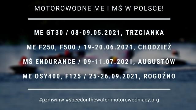 Trzy wielkopolskie ośrodki będą w przyszłym roku areną zmagań czołowych motorowodniaków Europy, do których należą też nasi reprezentanci