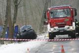 Śmiertelny wypadek na DW 710. W Rossoszycy kobieta wjechała w drzewo