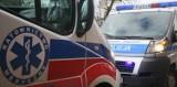 Wypadek na DK1 koło Radomska. Zderzenie busa z samochodem osobowym. Ranni