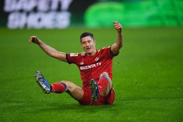 Robert Lewandowski w meczu Borussia - Bayern