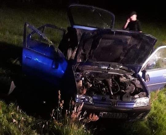 Golanka. Wypadek drogowy na drodze powiatowej.