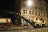Nocny remont ulicy Ozimskiej w Opolu [wideo]