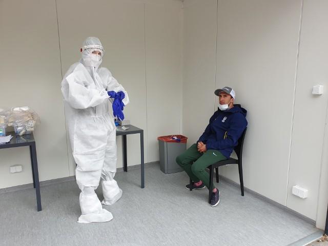Paweł Miesiąc z Motoru Lublin chwilę przed testem na lubelskim stadionie