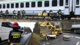 Zbąszyń: Tir wjechał pod pociąg relacji Berlin - Warszawa. Cztery osoby ranne. Poważne utrudnienia [ZDJĘCIA]