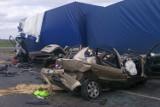 Stawiski. Śmiertelny wypadek 19-latki na DK 61 (zdjęcia)