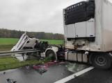 Wypadek na autostradzie A2 - zderzyły się dwie ciężarówki. Uwaga na utrudnienia