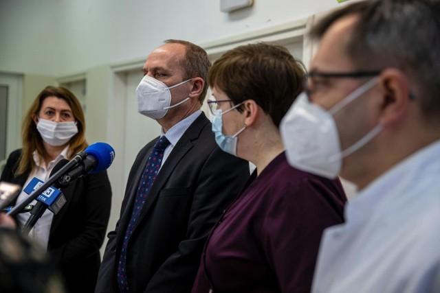 Konferencja na temat współpracy szpitala MSWiA oraz szpitala uzdrowiskowego w Supraślu.